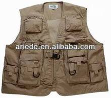 2015 new design 100% cotton fly fishing vest