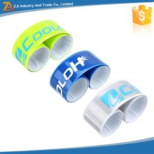 EN 13356 Reflective Snap Band/Slap Bracelet with Customer Logo Printing