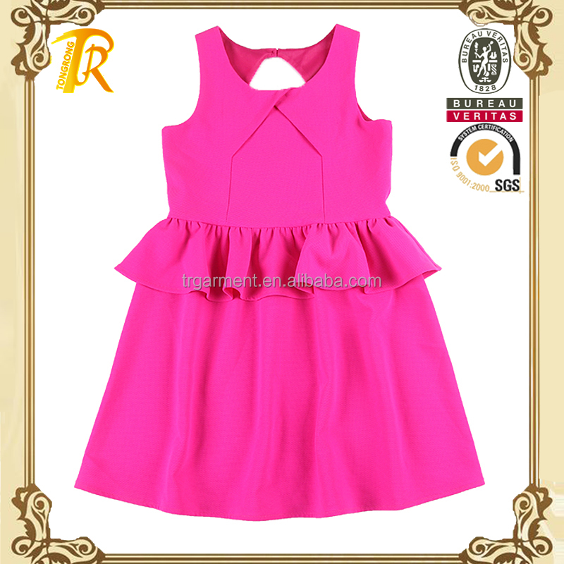 Pink kids skirts pants design children garment sets children clothing dress