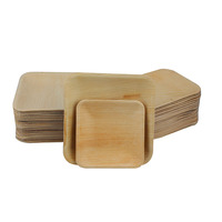 Cheap Wooden Leaf Disposable Plate Palm Leaf Plates Takeaway Plate