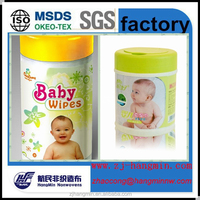 High quality Spunlace nonwoven fabric baby wet wipes canister baby wipes