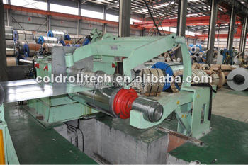 china Automatic hydraulic steel coil rewinder slitting line