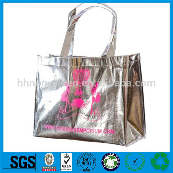 Packaging And Printing Glossy Lamination PP Nonwoven Shopping Tote Bags