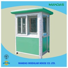 Light steel eps sandwich panel security guard houses/kiosk booth factory