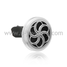 30mm Magnet Diffuser 316 Stainless Steel Car Aroma Locket Free Pads Essential Oil Car Diffuser Lockets