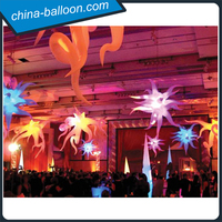 Lighting inflatable curl star/ party used hanging inflatable led planet