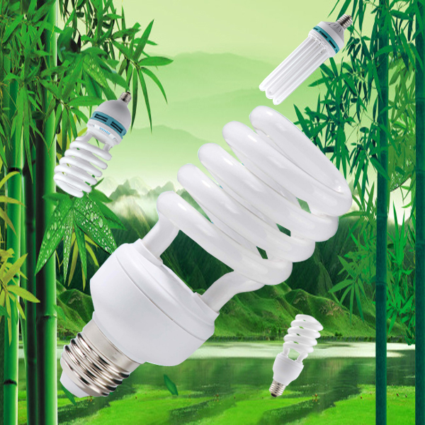 Half spiral Energy Saving Bulb 20w 30w 40w 55w CFL Bulb 220-240v energy saving light bulb