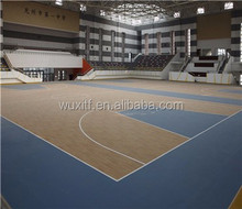 Durable pvc vinyl sports basketball pvc flooring with fiba standard