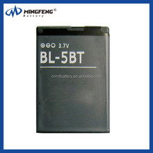 OEM Li-ion rechargeable mobile phone battery BL-5BT for nokia 2600c/2608/7510a/7510s/N75
