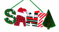 christmas home decoration santa letters hanging ornament