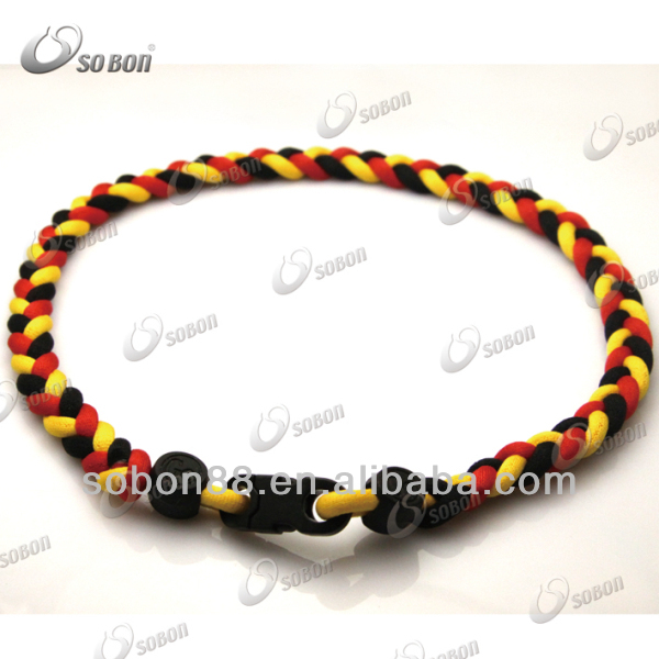 GT-023 3 rope knitted wholesale silicone ropes necklace
