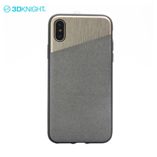 Cement and alloy and TPU slim full protect shockproof tpu phone case for iphone x phone strong cover