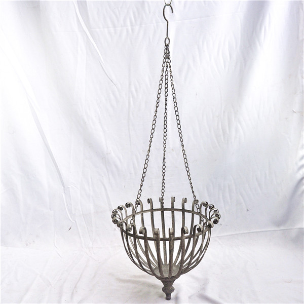 Vintage metal plant hanging baskets wholesale