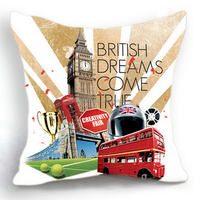 Updated hot selling 100% cotton canvas Retail Machine washable new york pillow covers