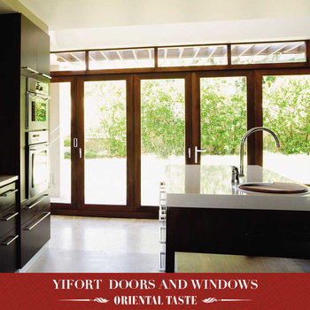 commercial aluminum frame double swing glass door