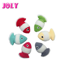 Cute Color Matching Pet Scratcher Toy Knit Wool Small Cat fish toy