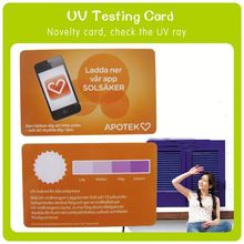 Advertising color changing Uv Indicator Card