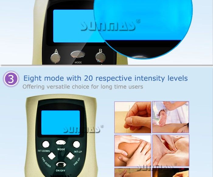 Sunmas Li Battery head wire rechargeable electronic massager