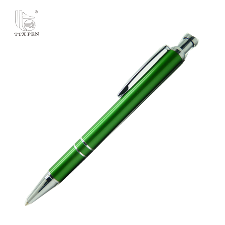 2018 classic red comfortable click metal ball pen with high quality