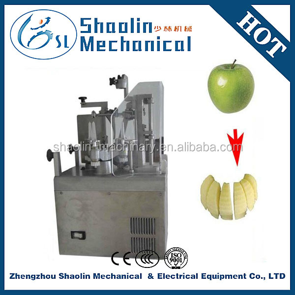 automatic stainless steel apple peeling core removing slicing machine