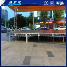 ACS top quality used portable lighted pillar stage/stable plywood stage lift platform/Outdoor event aluminum fancy stage