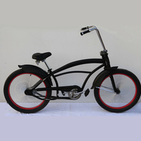 26 inch new style big tyre 7speed beach cruiser bicycle/ fat bike/fat bicycle with steel frame and disc brake