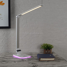 home decorative led desk lamp with folding and wireless function
