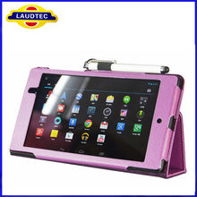Luxury Leather Case Stand Cover For Asus Google Nexus 7 II Tablet Black Purple