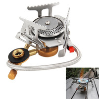High Quality New Arrival Cookout Portable Gas Stove Furnace Split Burner Cookware Outdoor Camping