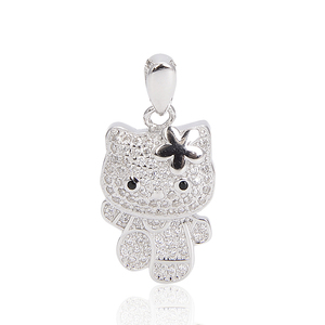Trendy Jewelry Necklace Pendant, Chinese Lucky Charm 925 Sterling Silver Pendant