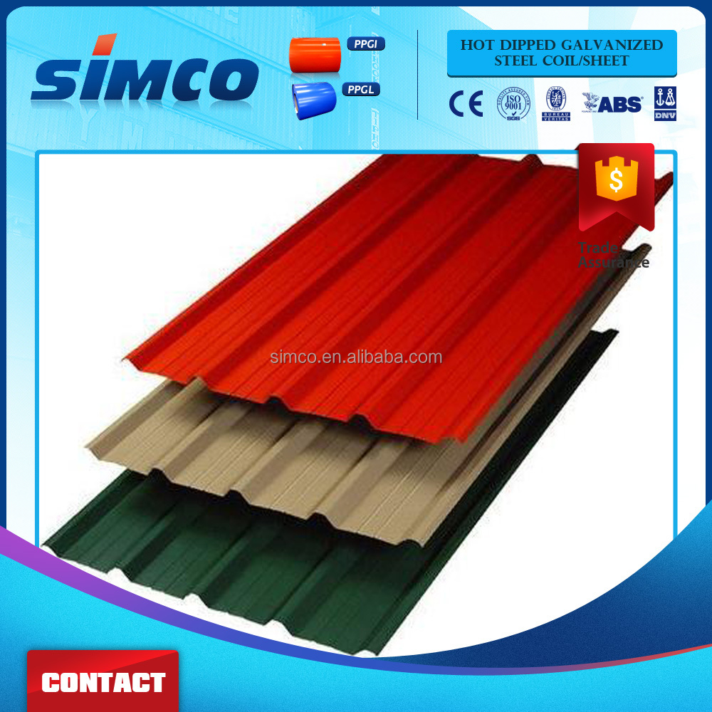 Jiangsu Color Metal Roof Prepainted Color Zinc Coated Corrugated Steel Roofing Sheets