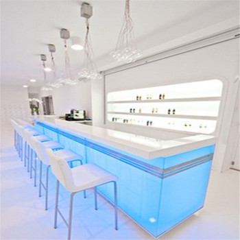 Liquid nightclub bar counter design,led bar counter table