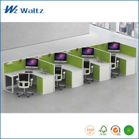 High quality fabric partition L shape office furniture, 4 people office partition /office furniture