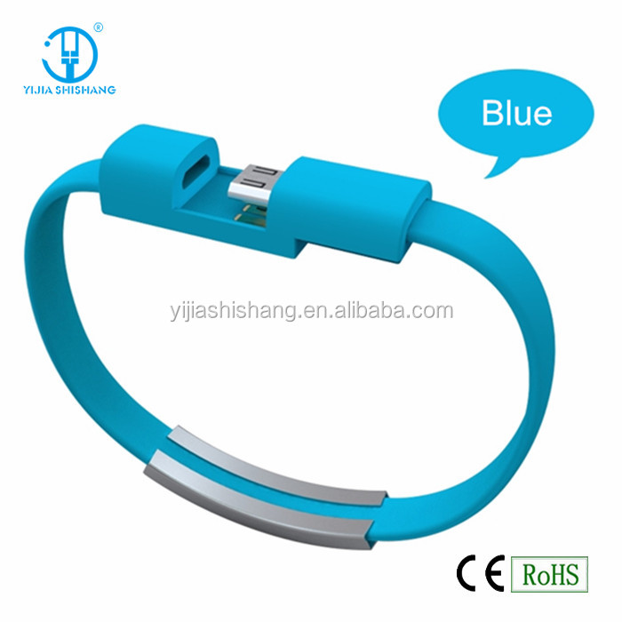 YIJIA SHISHANG Factory Creative Wristband Fashsion Bracelet Micro USB Cable Charging & Data Sync fit for Android Phones