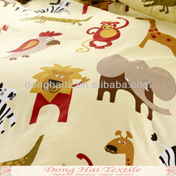Thanksgiving day animal pictures print fabric for kids