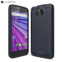 Laudtec Carbon Fiber Silicone Tpu Back Cover Case For Motorola <strong>C</strong>