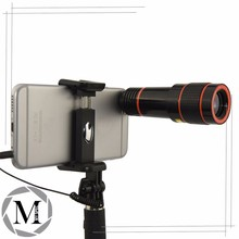 Travel lens kit - telephoto + fisheye + bluetooth remote shuttereye + wide angle+ macro + selfie-stick