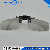 Polarized 3D Clip myopia Glasses, Plastic 3D Glass, OEM is Available for wholesalers