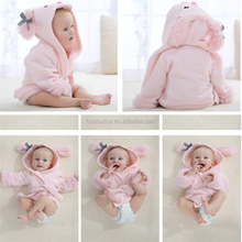 China retail Animal Baby Clothes Kids hooded towel children infant bathrobe