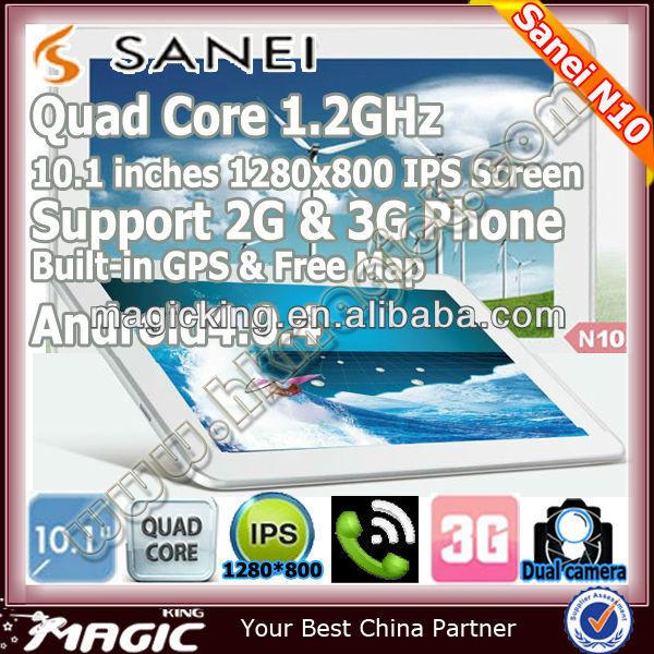 Sanei N10 cheap 10 inch android 4.0 tablet sim card slot 3g gps