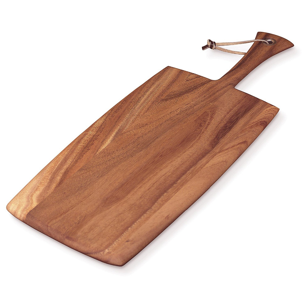 Acacia wood cutting board large rectangular paddle bread board cheese board