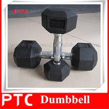 Fixed Rubber Coated Hex Dumbbell with great price