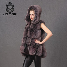 Top selling real fancy fox vest ladies fur waistcoats