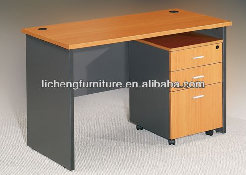 New modern fashion style MFC + Wooden leg office desk
