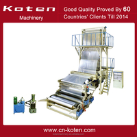 High Speed Polyethylene HDPE LDPE Plastic Film Blowing Machine/Extrusion Machine