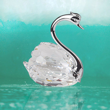 hot sale crystal decoration crafts crystal swan for wedding gifts