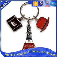 professional custom beer glass metal keychain