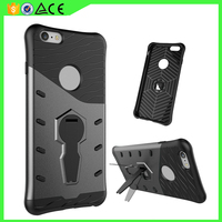 Factory price Hard PC phone Case 360 kickstand Hybrid silicone cover protector For iphone 6 case TPU