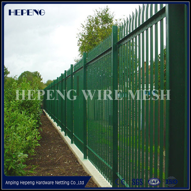 hot dipped galvanized steel palisade fencing , pvc security palisade fence panel