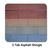 Colorful asphalt roof shingle/roof tiles for slope roofs/building materials
